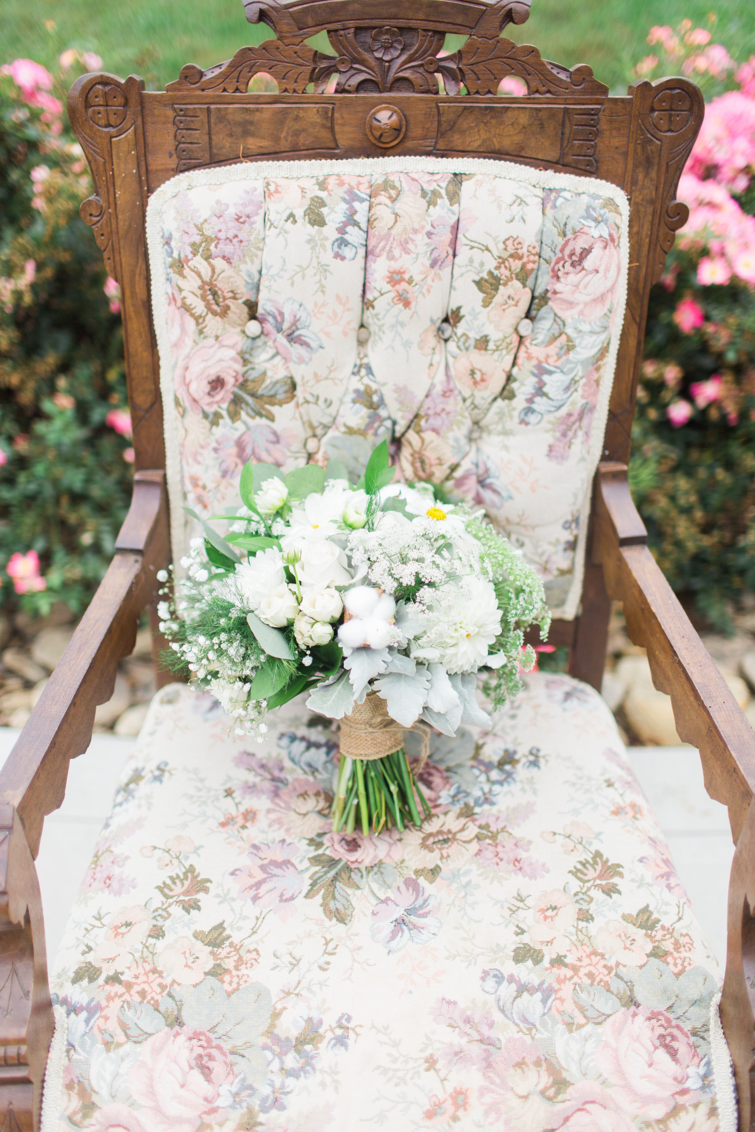 Think unique - Add cotton blossoms,pine cones, an artichoke bloom, or a mini pineapple.Maybe even a bouquet entirely made of greenery.