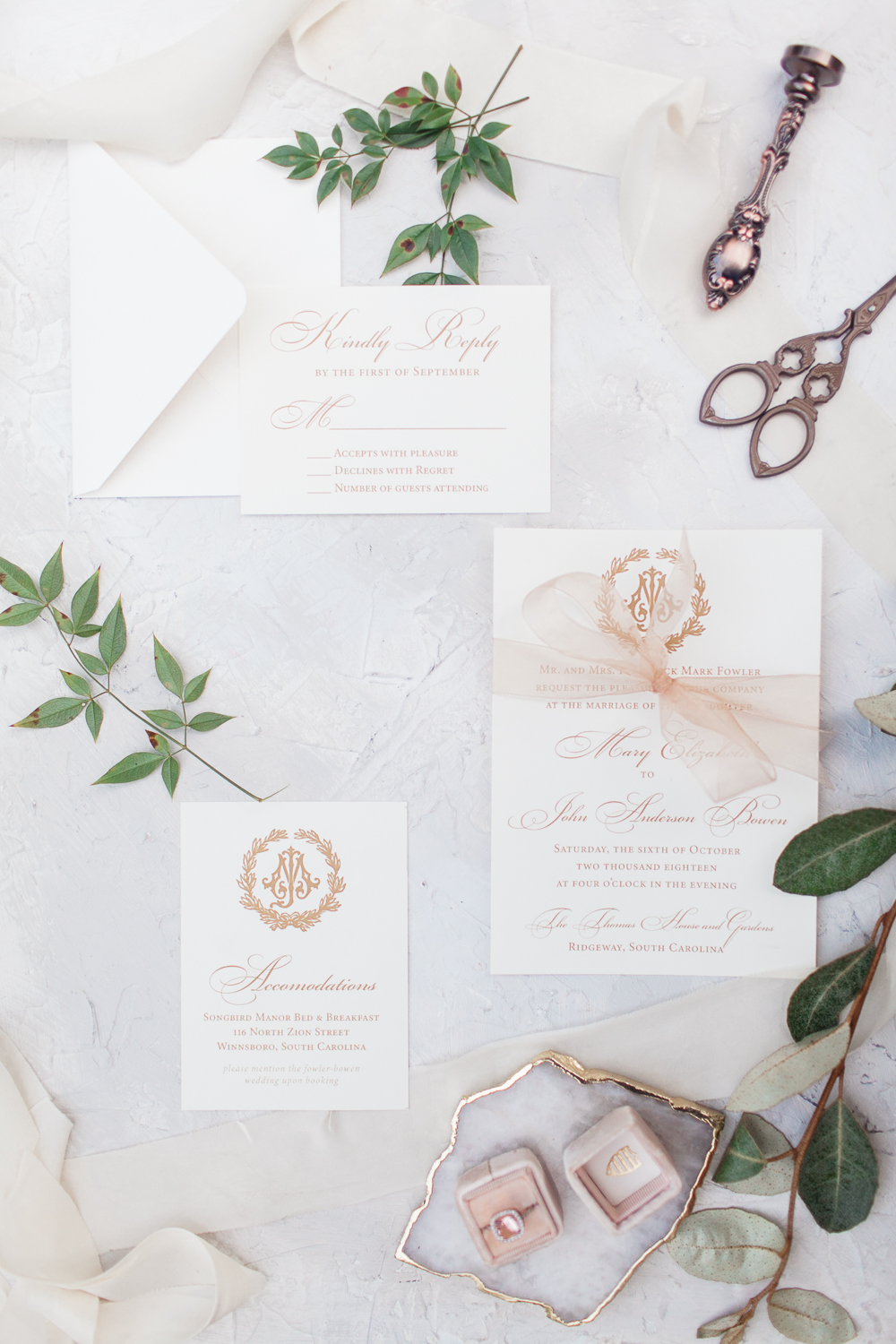 Pro Tip: Bring Your Invites - Bring your Whole INvitation Suite. Envelopes and all. they Set the tone for your wedding and deserve their time to shine.