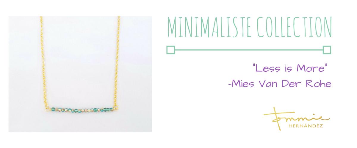 minimalist jewelry collection gold bar