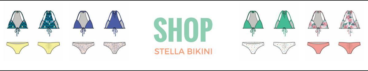 Stella Bikini Pattern Review  DIY Bikini How to Make a Bikini