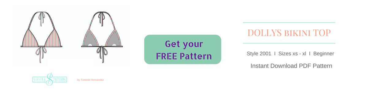 free bikini swimsuit top bottom diy pattern pdf how to make cómo hacer