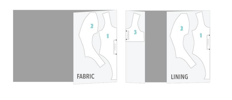 cutting layout how to make a one piece swimwear swimsuit bikini free pattern