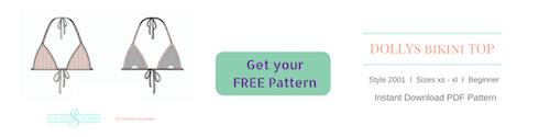 free bikini triangle top diy pattern how to make a bikini top