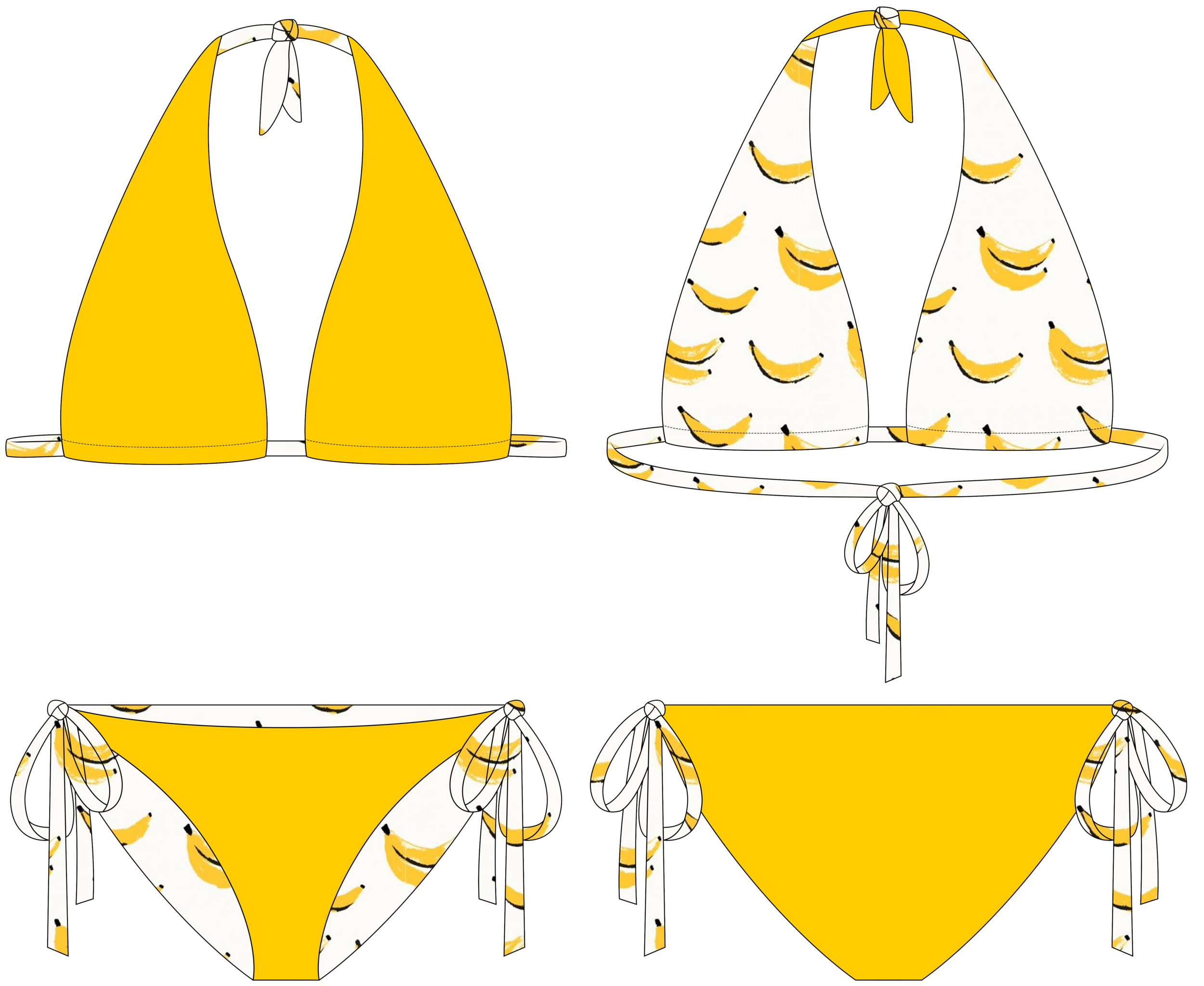 how to make a seamless reversible bikini bottom easy