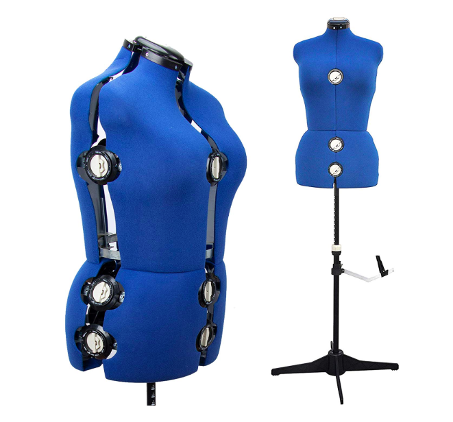 Adjustable sewing dress form