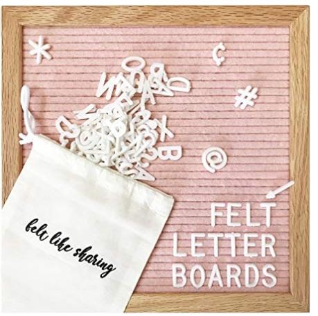 pretty felt letter board