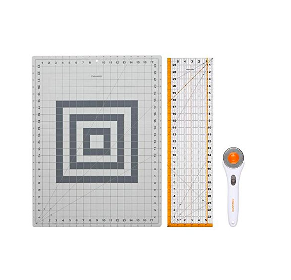 rotary cutter and cutting mat set