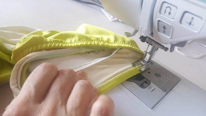 como coser elastico sin remalladora overlock