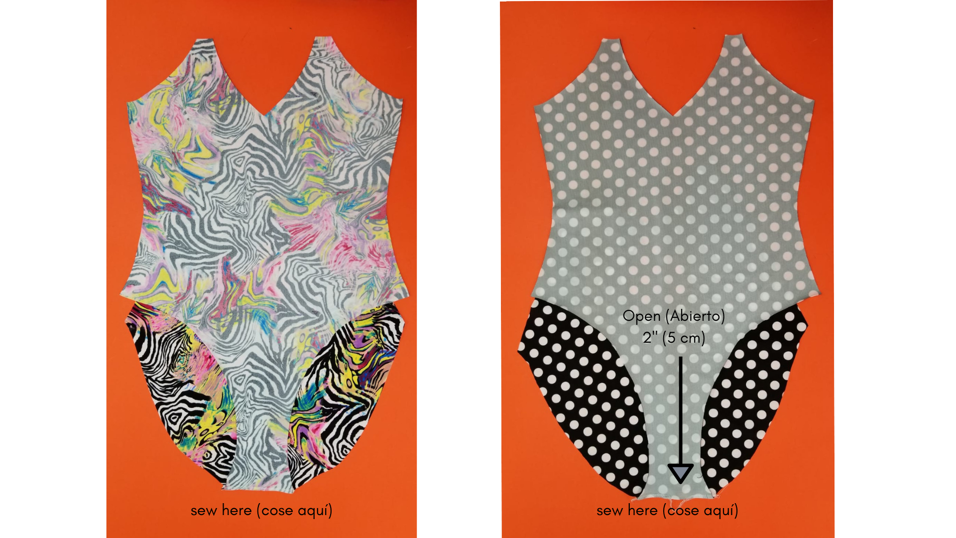 how ta make a reversible one piece swimsuit