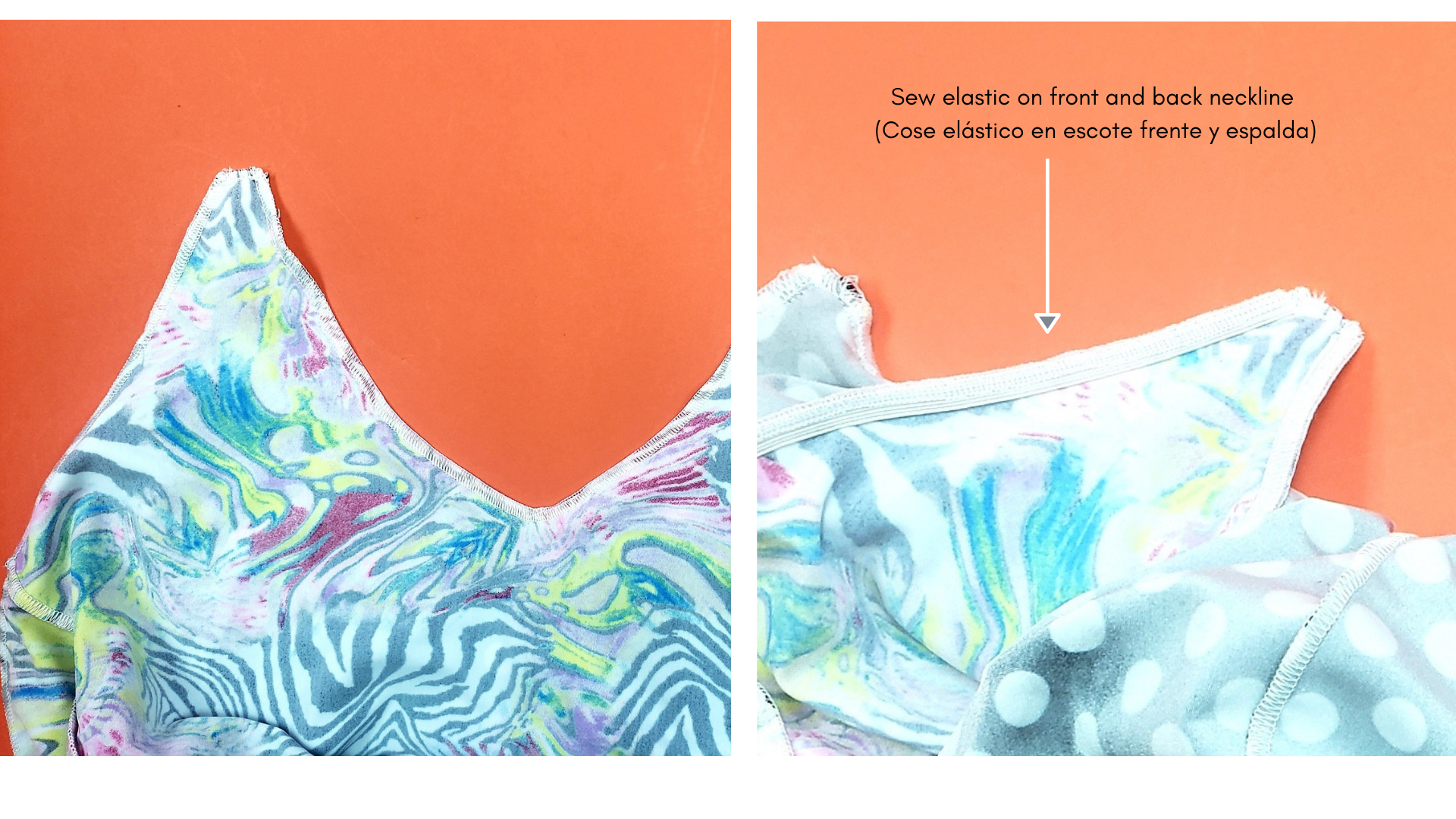 how to make a reversible swimsuit sew elastics