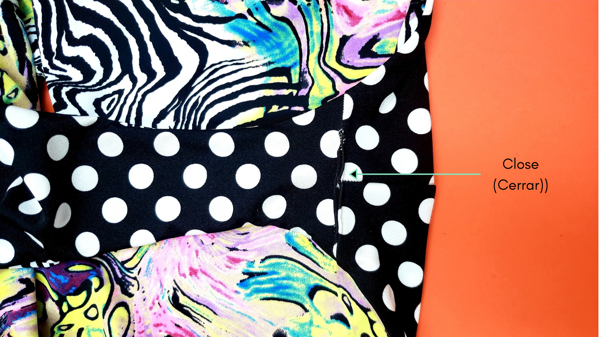 how to close a reversible swimsuit sew