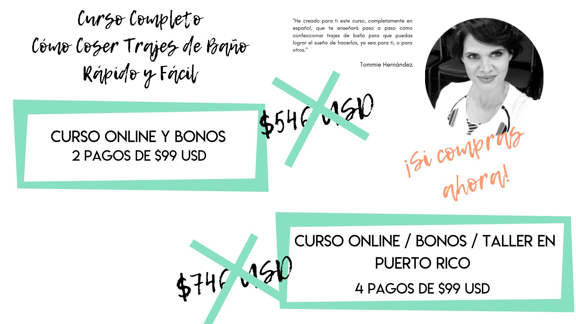Curso online Cómo hacer trajes de baño rápido y fácil Tommie Hernández