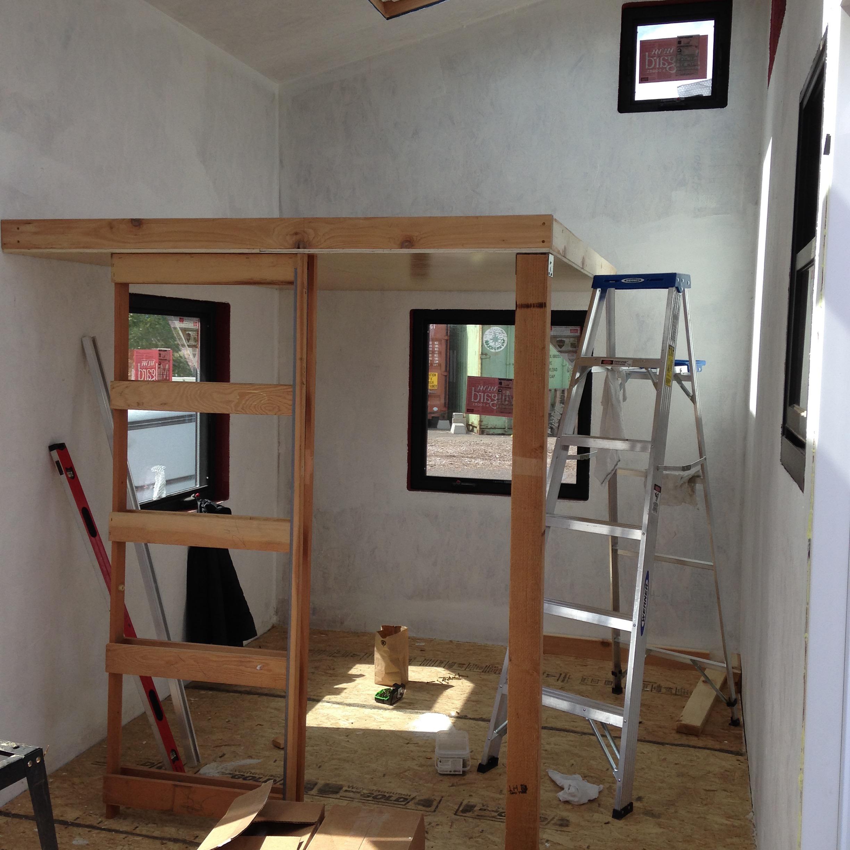 Studio Pocket Door Frame Installed