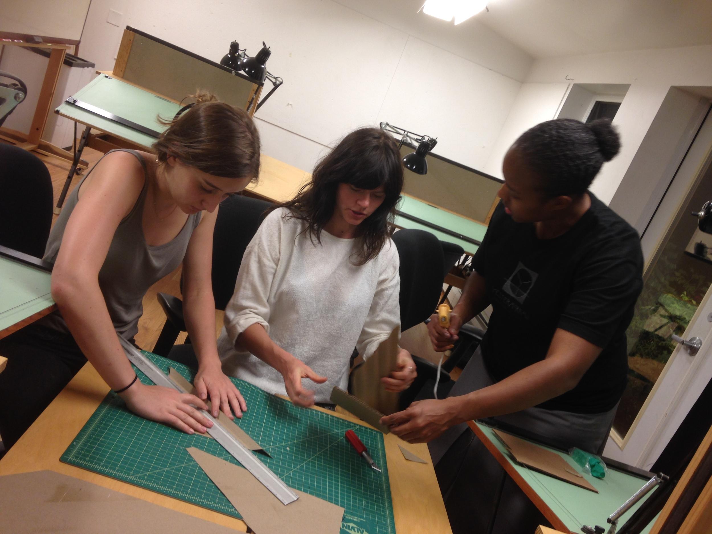 Tori, Lauren & Tawana Model Making.JPG