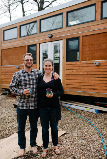 Lina and Isha designed and built their tiny home in 2016-2017 and it's their detached bedroom at Going Places. Photo credit:  Kristina Lynn Photography