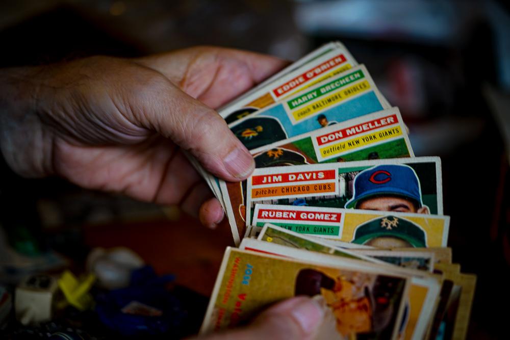 My dad's baseball cards.