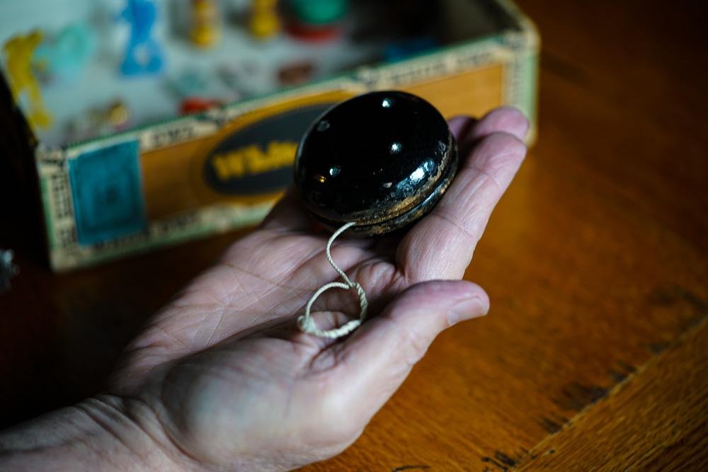 My dad's yo-yo. Copyright Lisa Weiss 2019.