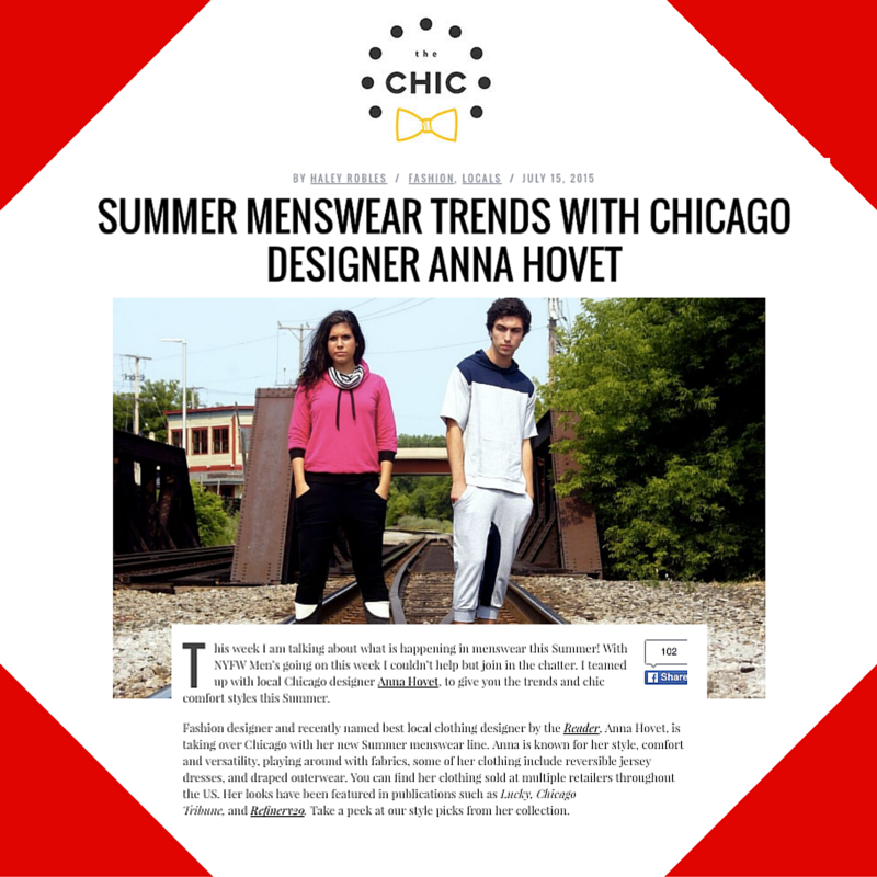 July 15, 2015 -Chicago Chic Placement For Anna Hovet