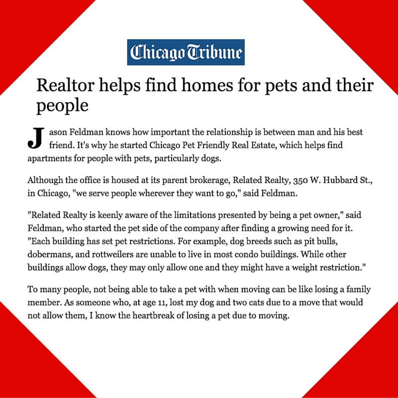 April 13, 2015 - Placement for Chicago Pet Friendly Real Estate