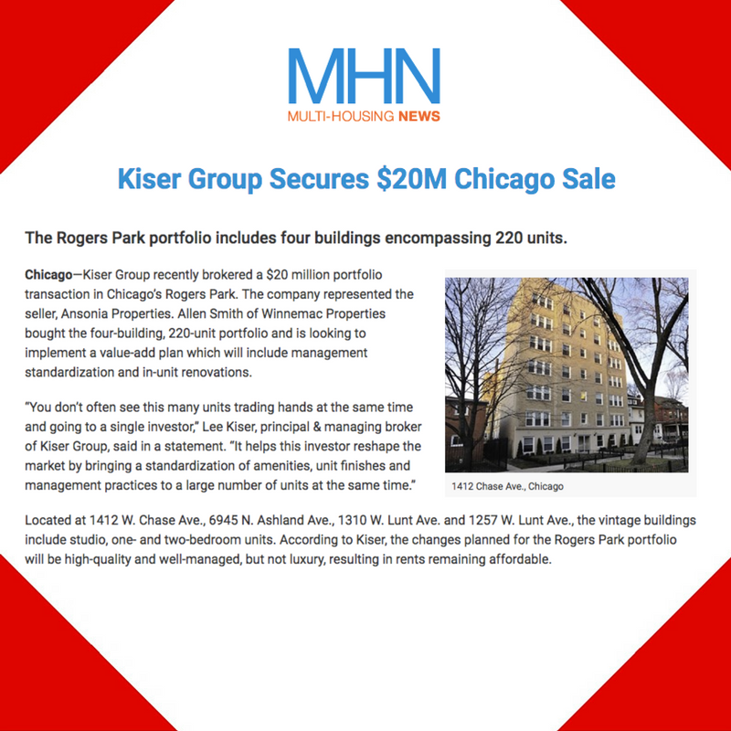 December 22, 2016 - Placement for Kiser Group