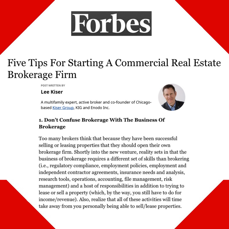 June 15, 2017 - Forbes Placement for Kiser Group