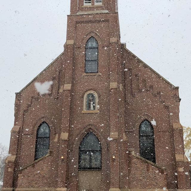 Day 4 - snowy St. Ann, beautiful church, sound-check. This was a special night.