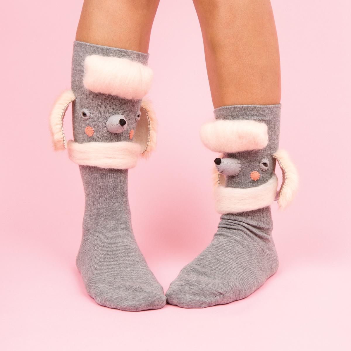 Poodle Socks for Frankie Magazine