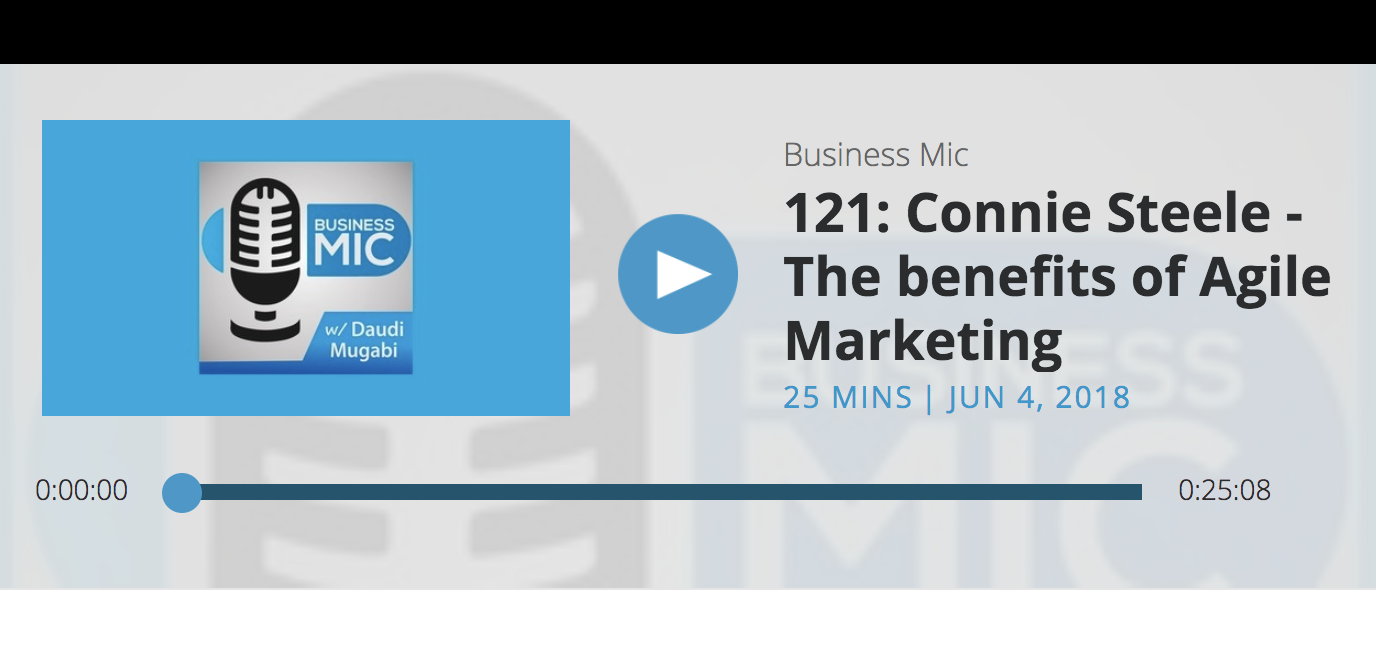 121: Connie Steele - The benefits of Agile Marketing