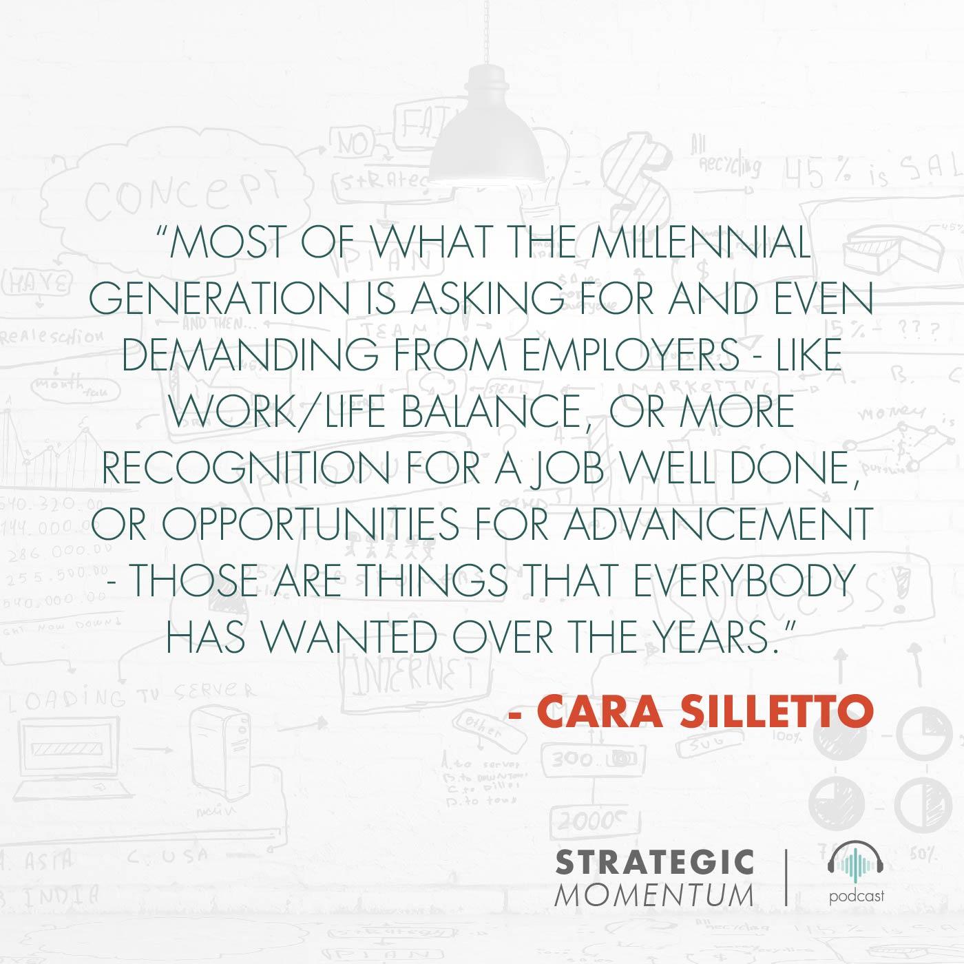 Cara Silletto Quote | Strategic Momentum Podcast