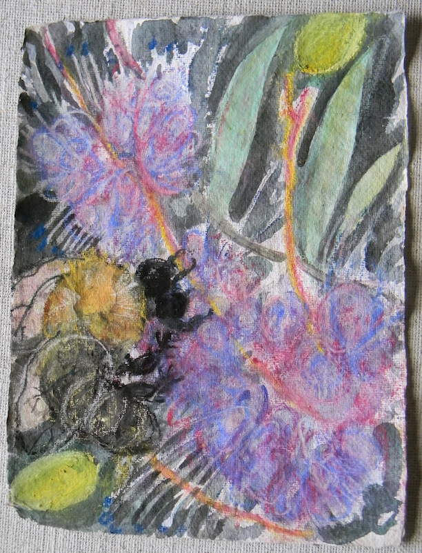 Bee and Flowers Study#2 9/11 sold