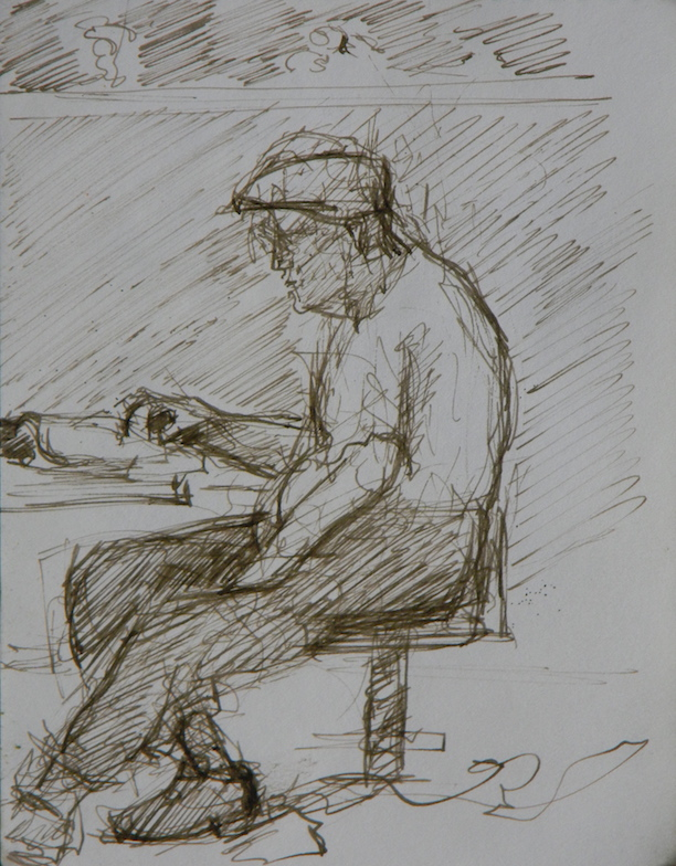 Old Man in the Library#2