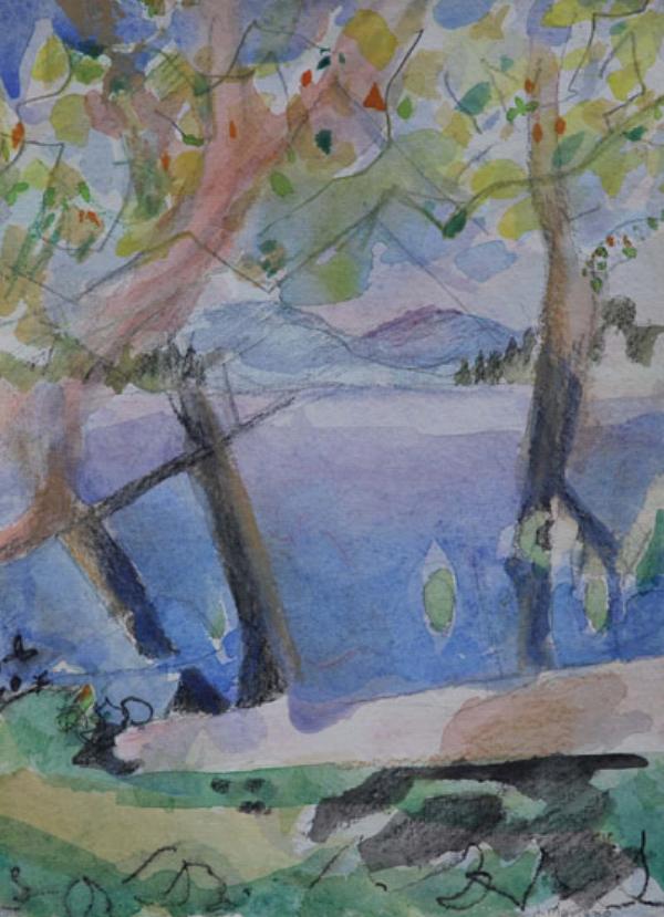 Adirondack Lake 1 9x12 sold