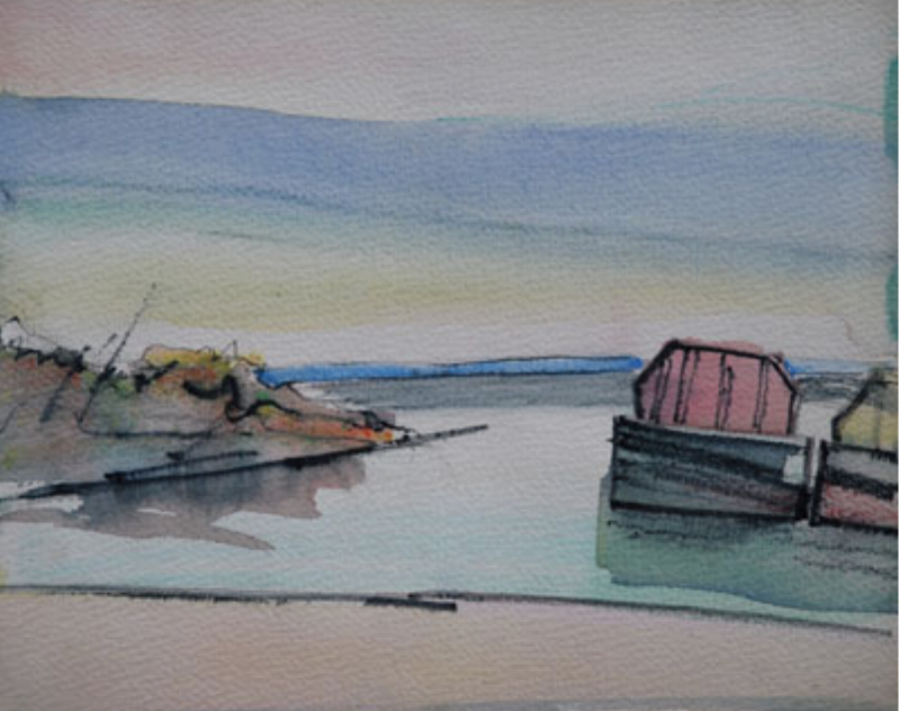 Barge by the Bay 11x9 nfs