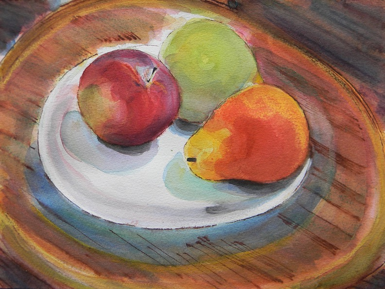 Dish of Fruit1 2018 12x9 $200