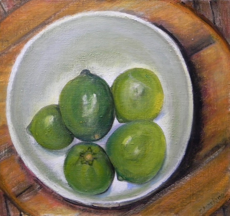 Bowl of Limes 2017 16x17 $400