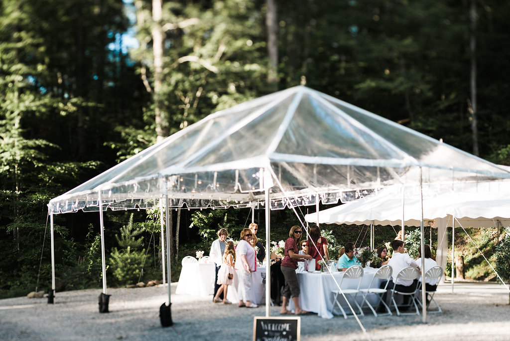 clear tent at Nantahala Weddings