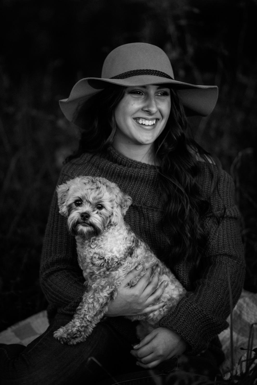 senior shoot with dog