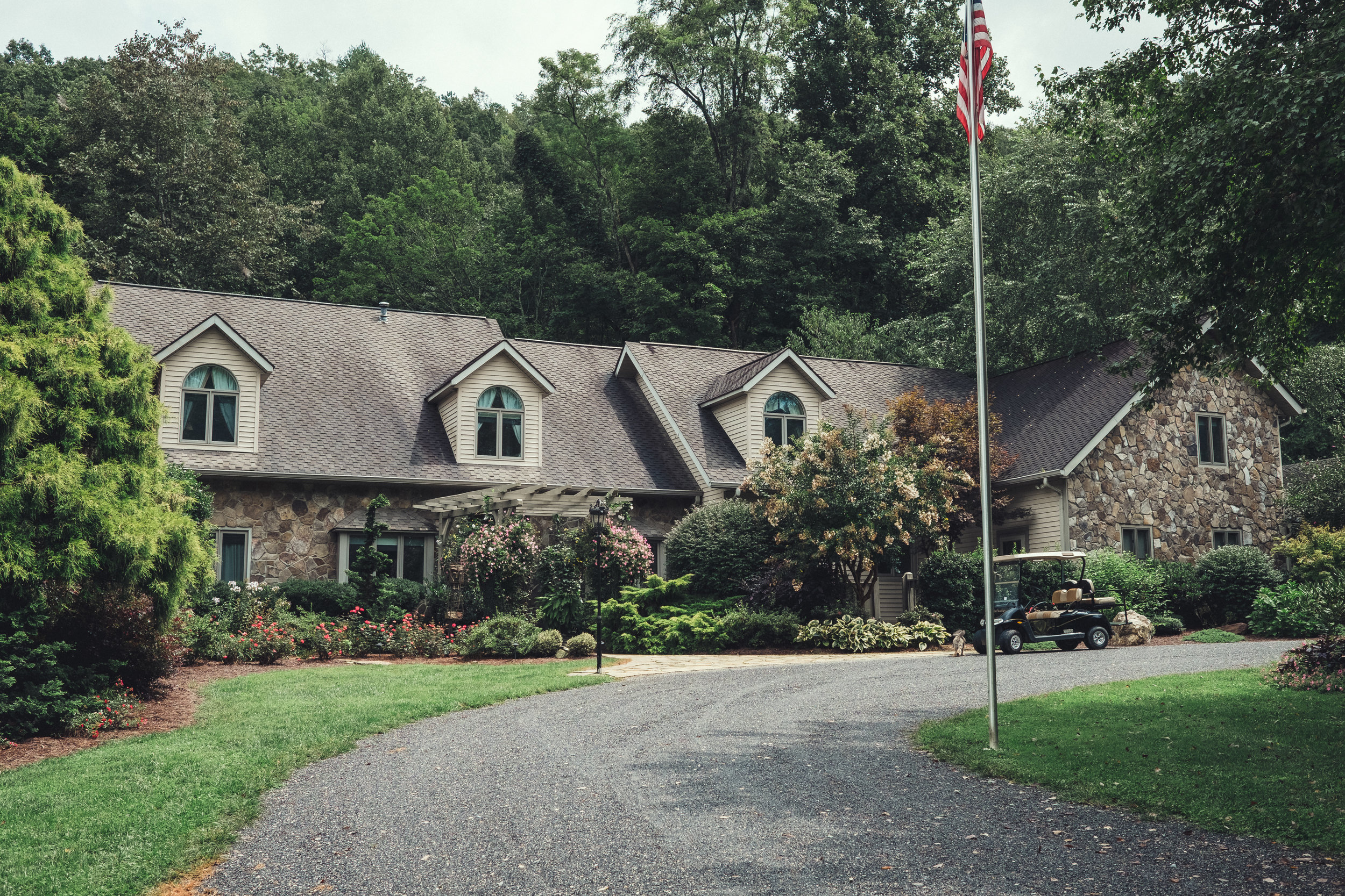 Main house at Hawkesdene