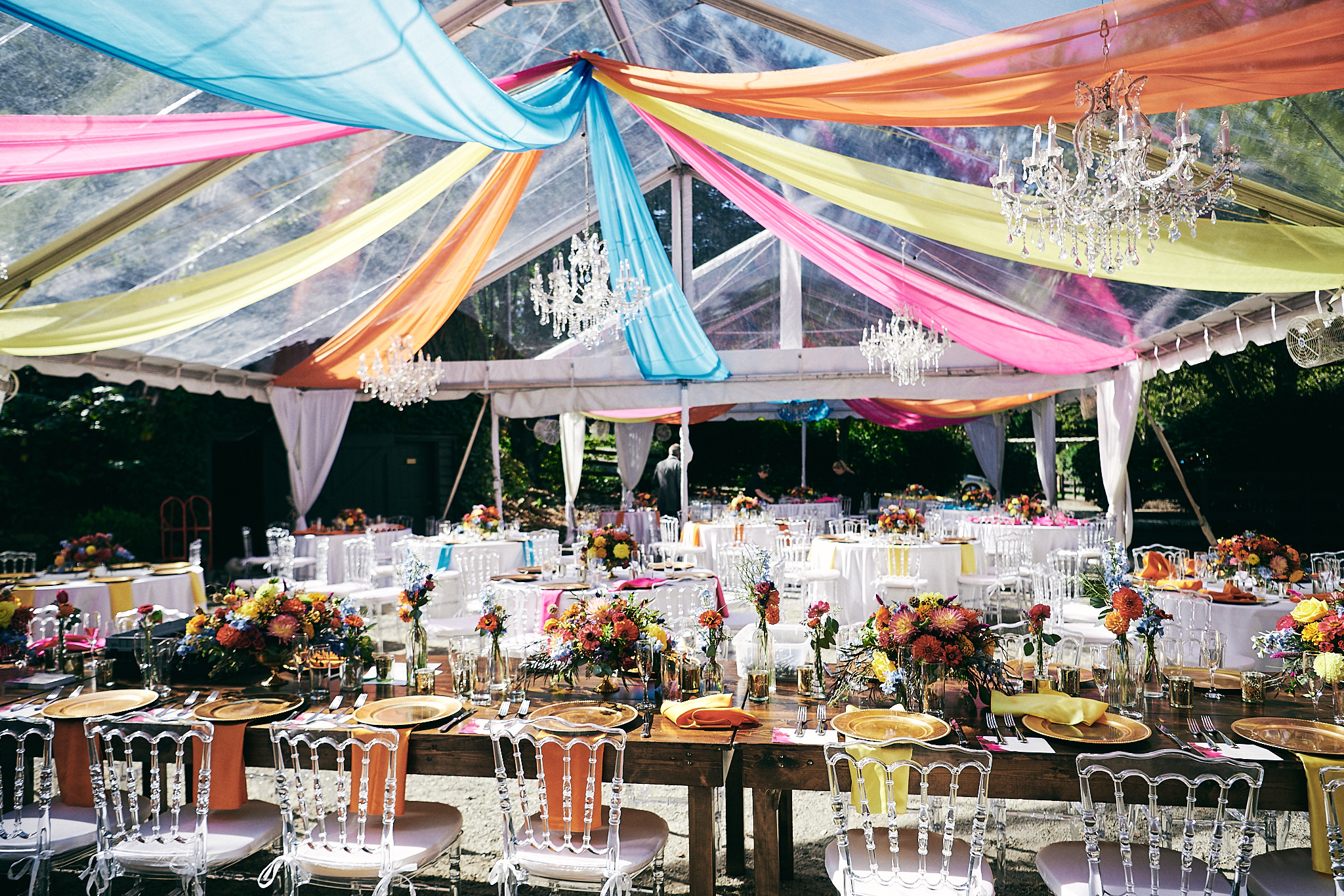 Colorful wedding details
