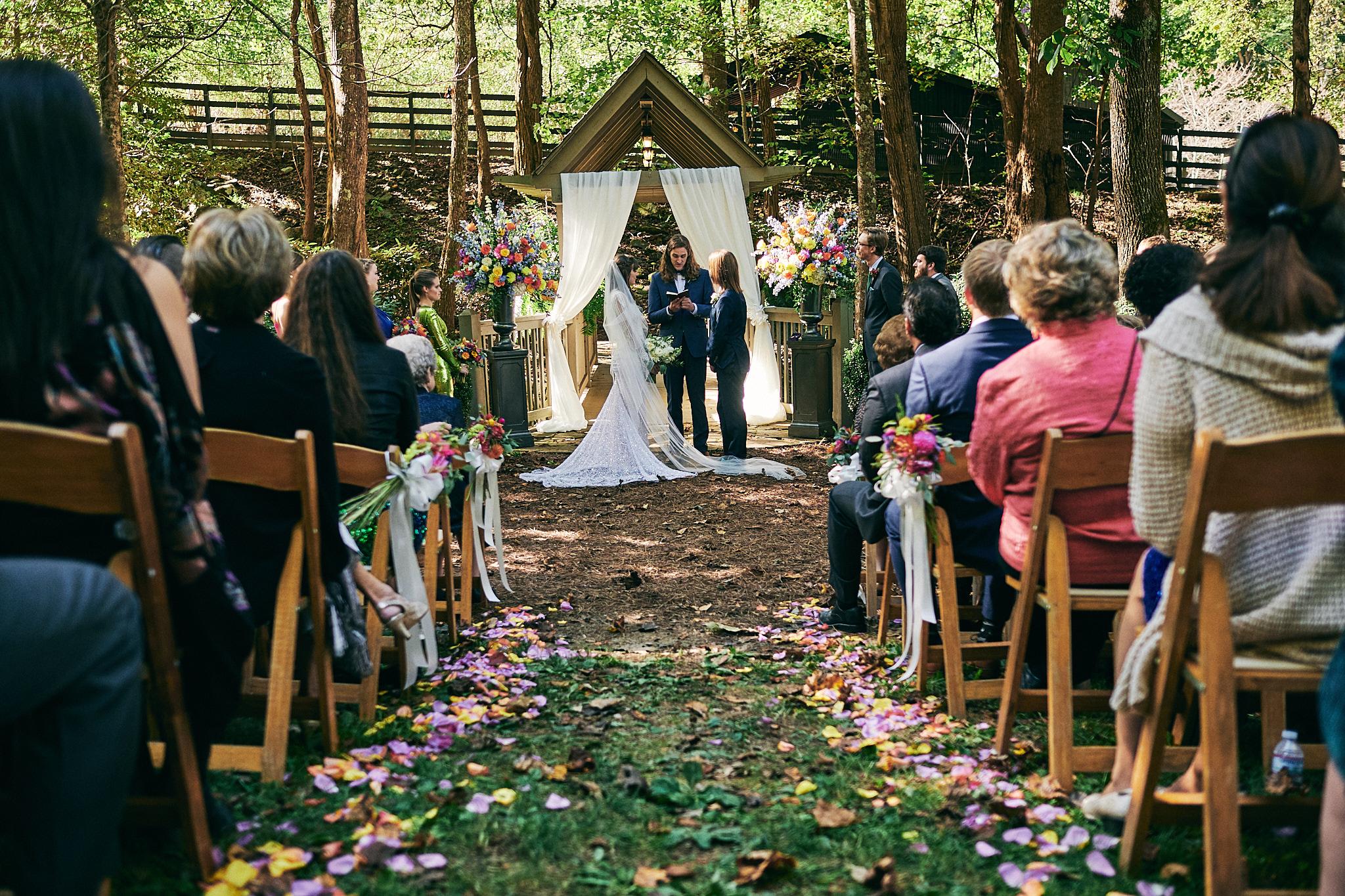 Hawkesdene outdoor fall ceremony