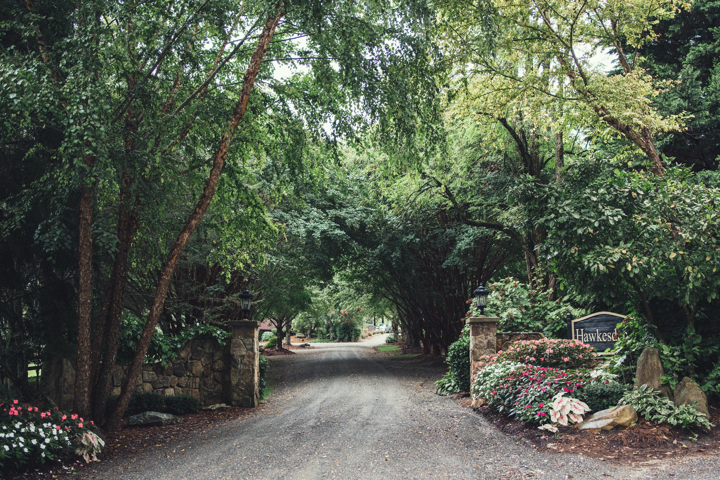 Hawkesdene entrance