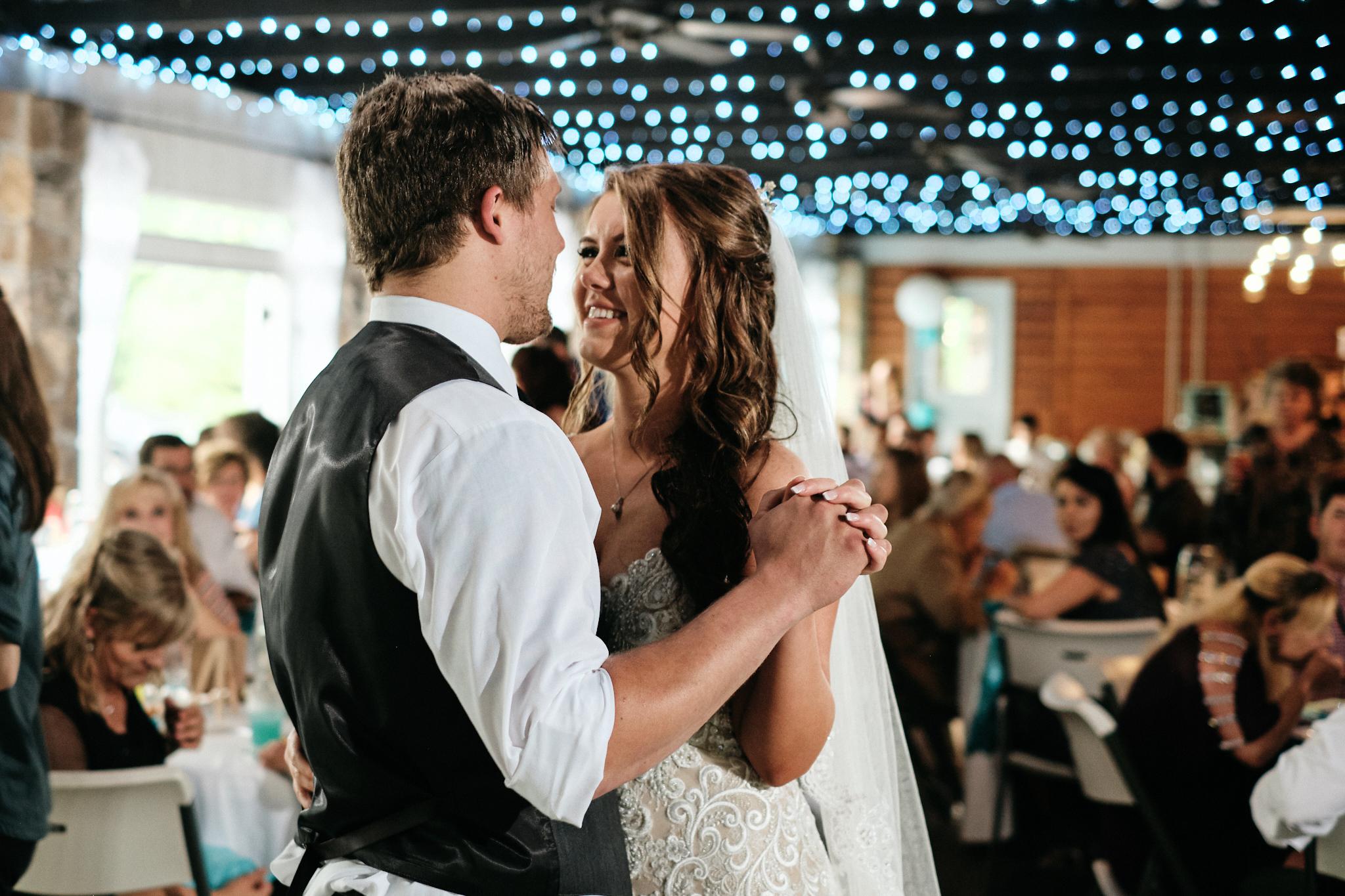 Hiawassee River wedding first dance