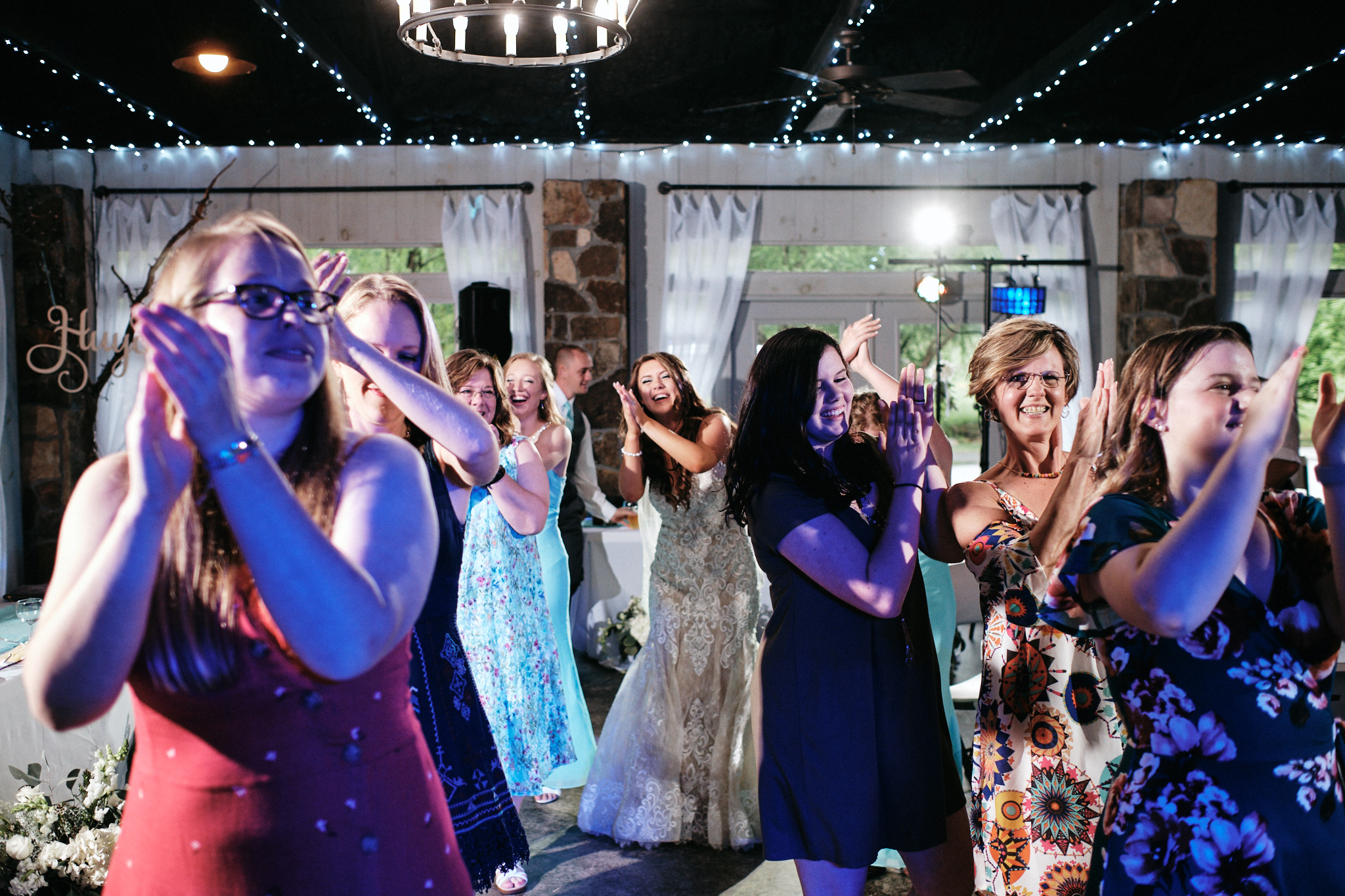 Dance party during reception