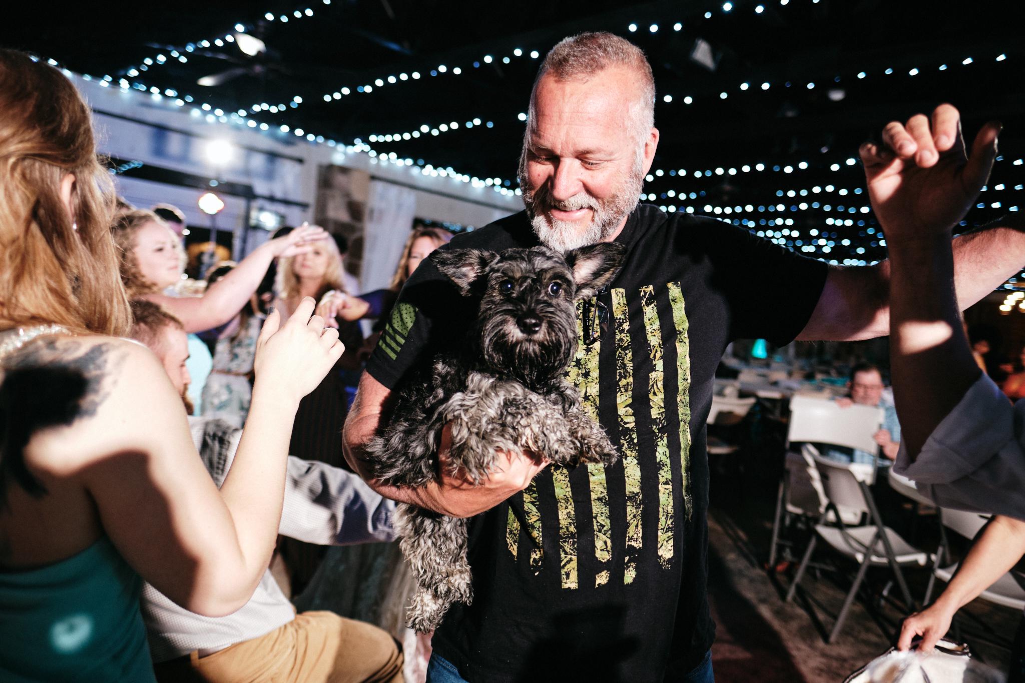 Dog on the dance floor