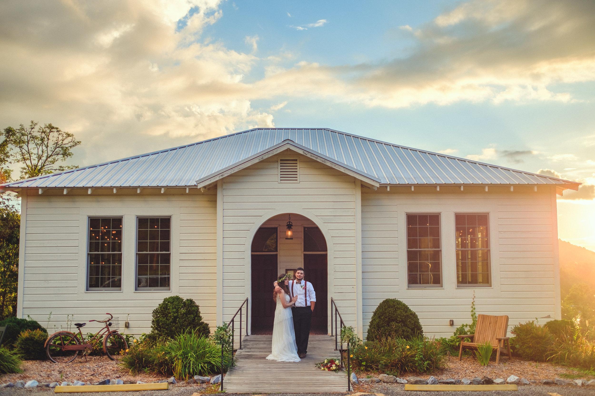Choestoe School House wedding Blairsville Georgia
