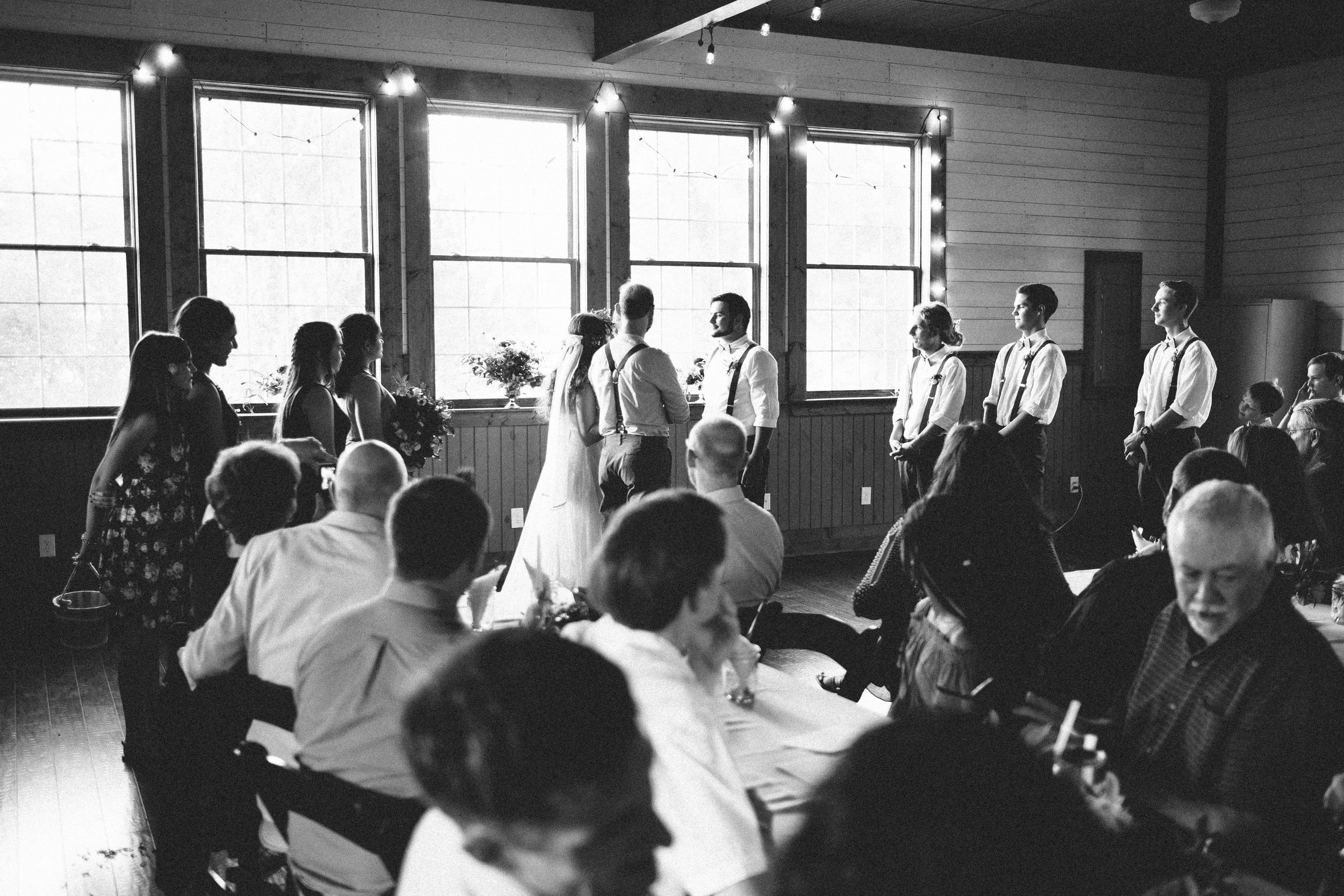 Black and white ceremony