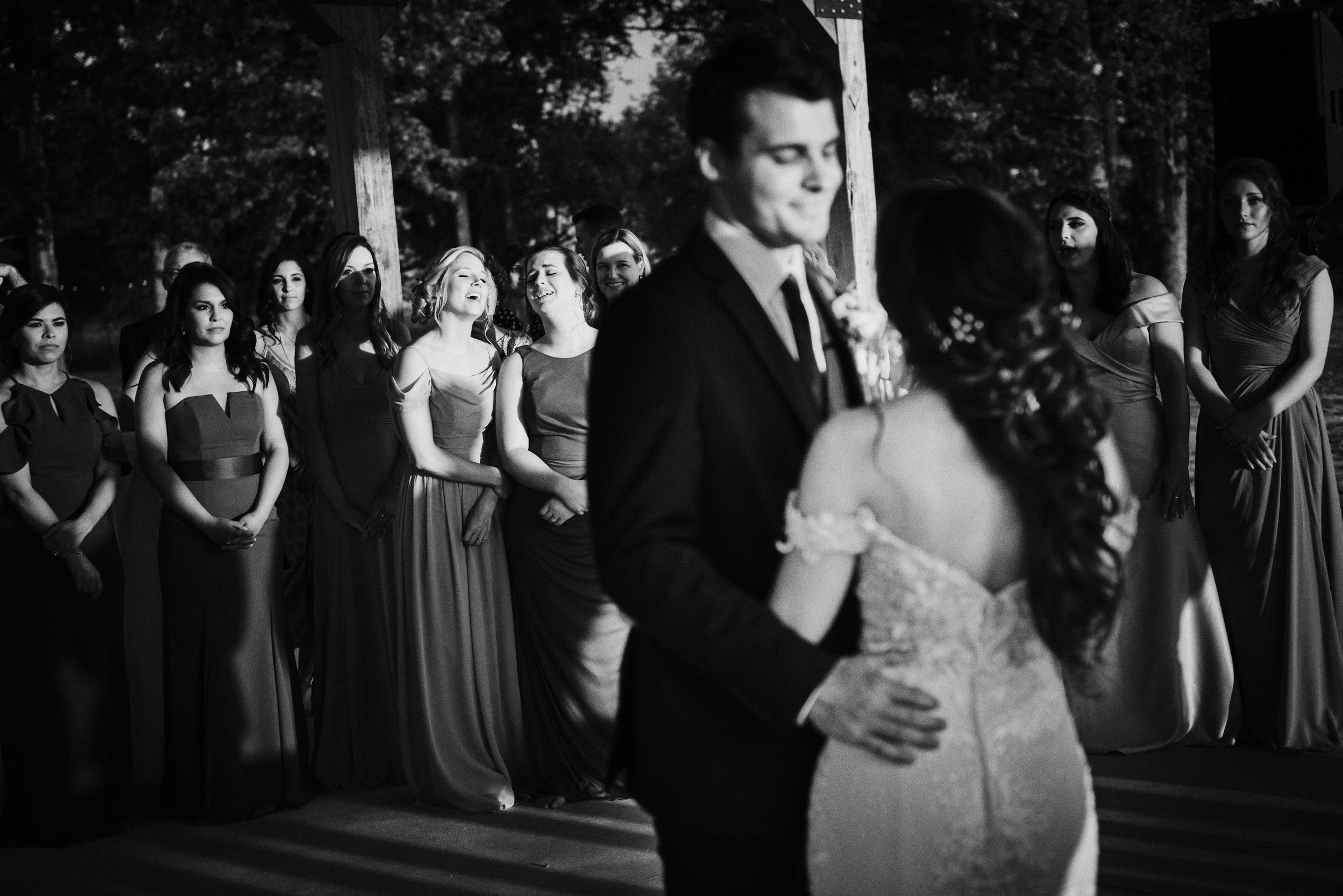 Singing along with first dance