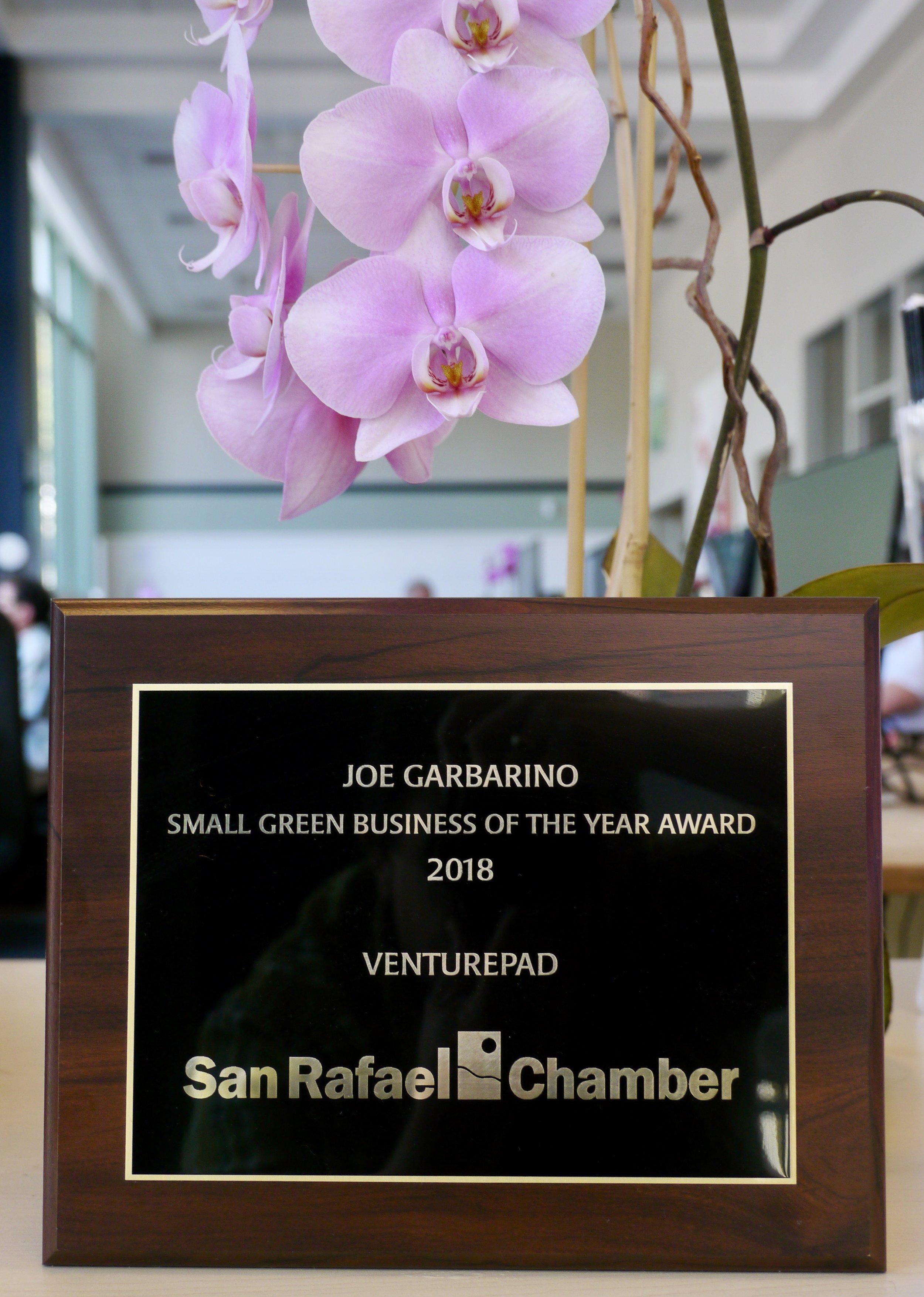 VEnturepad — winner, Small green Business award, city of san rafael 2018