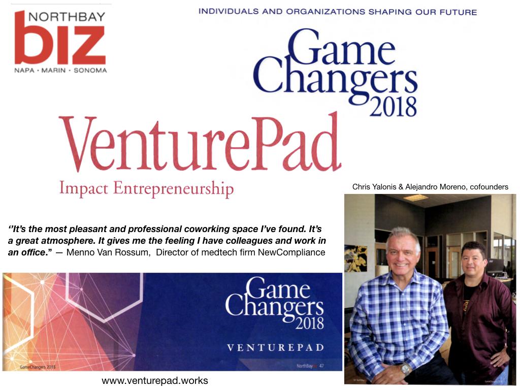 North Bay Biz Magazine July 2018 Issue - Winners of the ''GameChangers 2018'' award by North Bay Biz Magazine