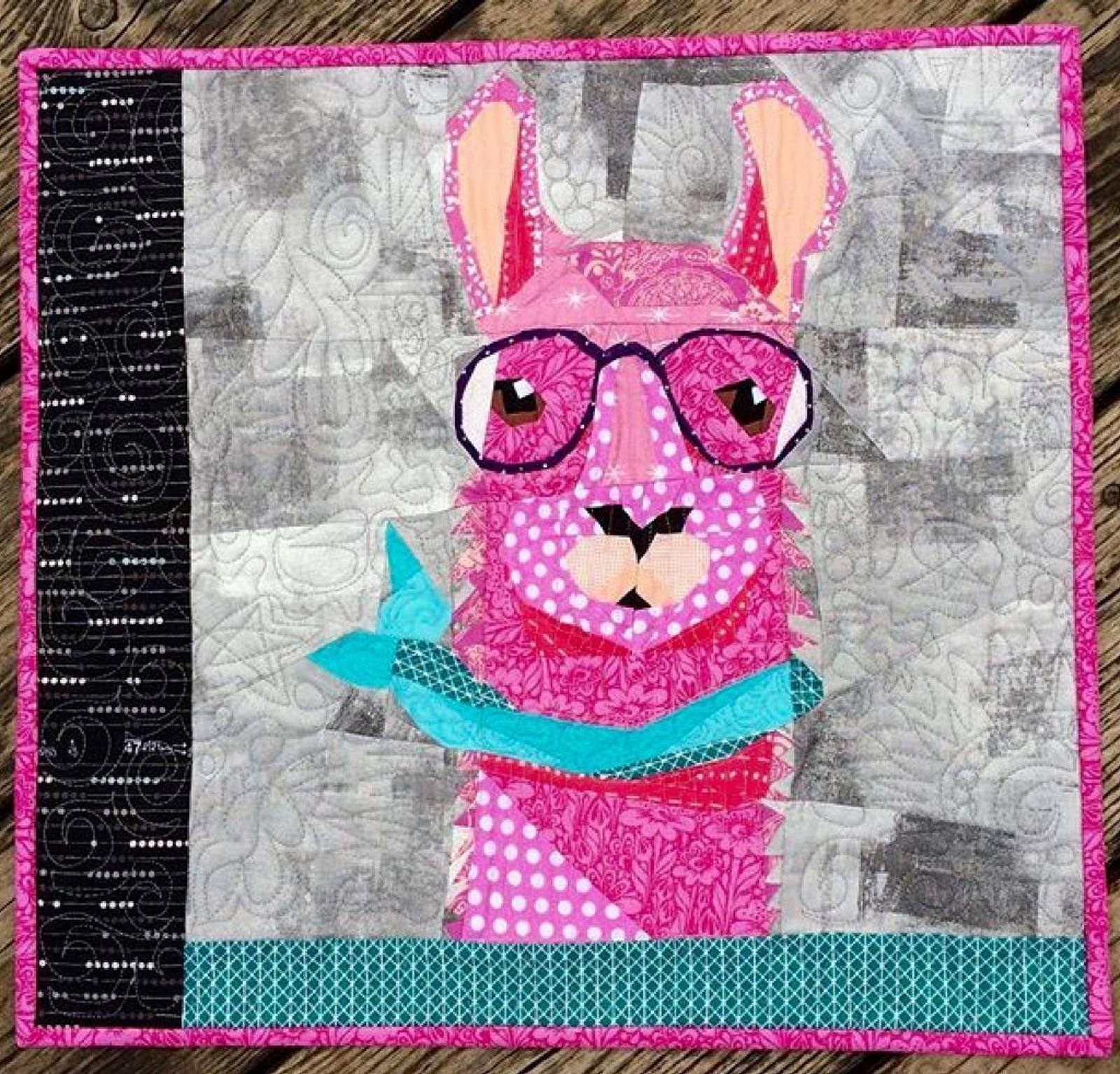 Hipster Llama Pattern sold by Craftsy